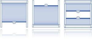 Рулонная штора уни пружина варианты монтажа