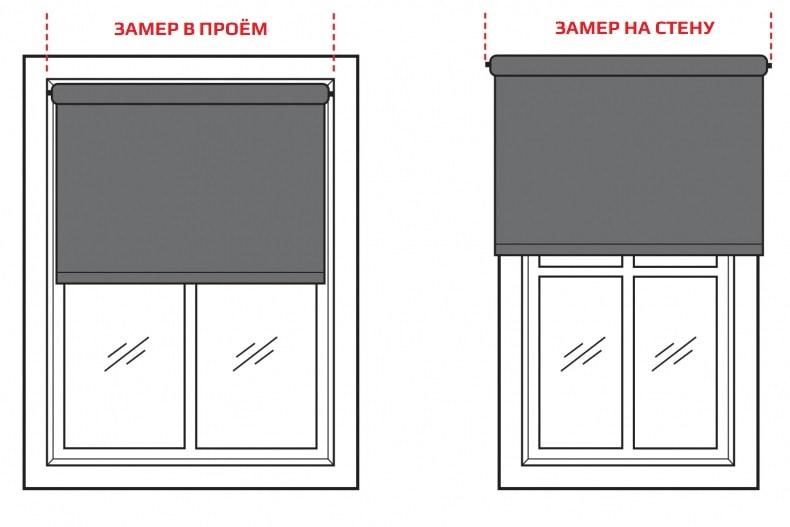 Замер рулонных штор люкс инструкция фото