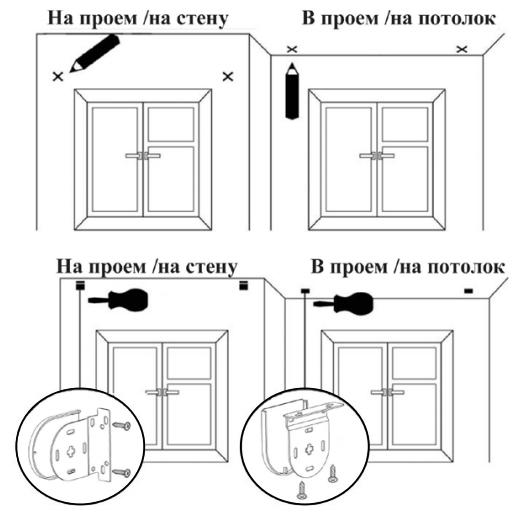 Монтаж рулонных штор люкс фото