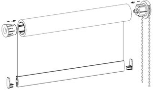Рулонные шторы люкс классические фото