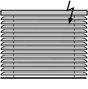 Горизонтальные жалюзи с электроприводом Алюминиевые 50 мм.