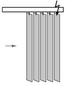 Вертикальные жалюзи, раздвижка к управлению
