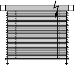 Горизонтальные жалюзи с электроприводом Деревянные и Бамбуковые Venus 25 мм.